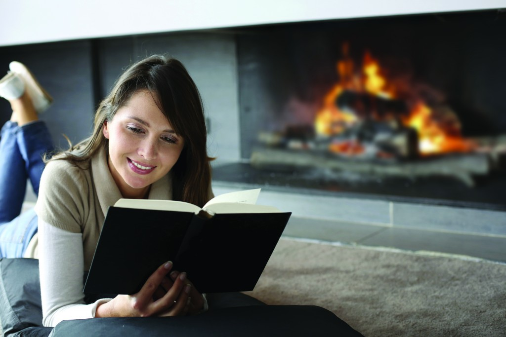 UBG Images - Woman & Fireplace